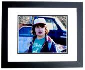 Gaten Matarazzo Signed - Autographed Stranger Things - Dustin 8x10 inch Photo BLACK CUSTOM FRAME - Guaranteed to pass PSA or JSA
