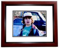 Gaten Matarazzo Signed - Autographed Stranger Things - Dustin 8x10 inch Photo MAHOGANY CUSTOM FRAME - Guaranteed to pass PSA or JSA
