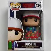 GATEN MATARAZZO Signed DUSTIN Funko POP Stranger Things Figure ~ BAS Beckett COA