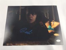 Gaten Matarazzo Signed Stranger Things 11x14 Picture Ghostbusters Dustin JSA 3