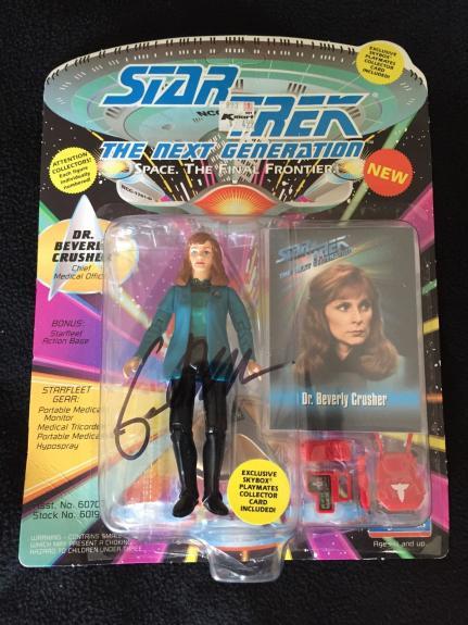 GATES MCFADDEN Signed Star Trek TNG Action Figure DR. BEVERLY CRUSHER #2