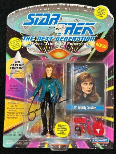 GATES MCFADDEN Signed Star Trek TNG Action Figure DR. BEVERLY CRUSHER #4