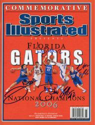 Al Horford, Corey Brewer, Joakim Noah, Lee Humphrey, & Taurean Green Florida Gators Autographed Sports Illustrated 2006 Champs Magazine