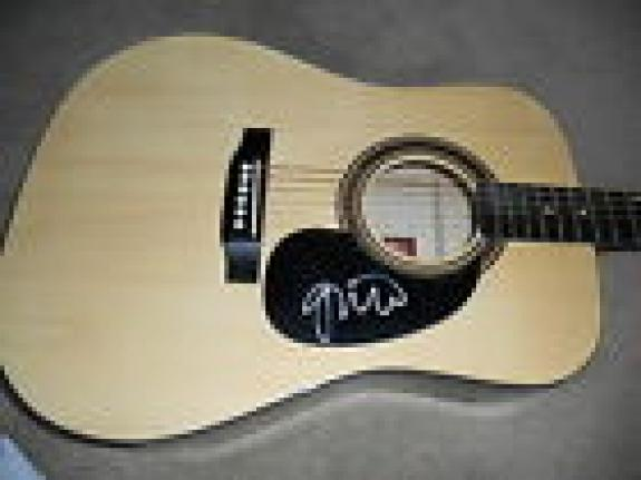 Gavin Rossdale Bush Music Signed Autographed Acoustic Guitar