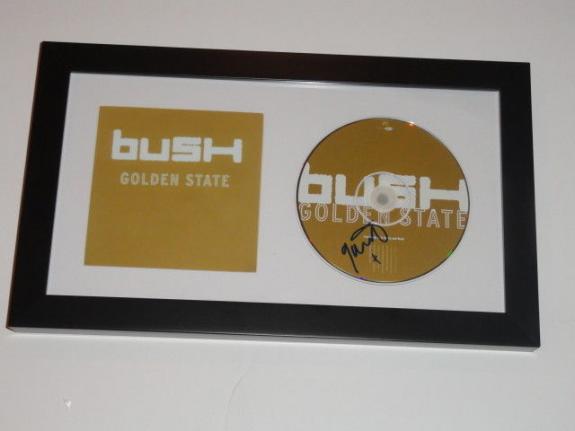 """Gavin Rossdale Signed Framed Bush """"golden State"""" Cd Rare"""