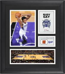 "Rudy Gay Sacramento Kings Framed 15"" x 17"" Collage with Team-Used Ball"