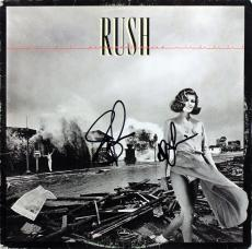 Geddy Lee & Alex Lifeson Rush Signed Permanent Waves Album Cover W/ Vinyl PSA