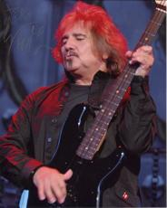 GEEZER BUTLER HAND SIGNED 8x10 COLOR PHOTO+COA       BLACK SABBATH      TO MIKE