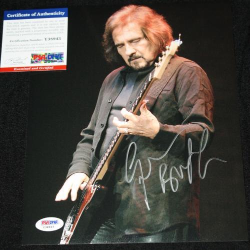 Geezer Butler signed 8 x 10,Black Sabbath,Master of Reality,Ozzy Osborne,PSA/DNA