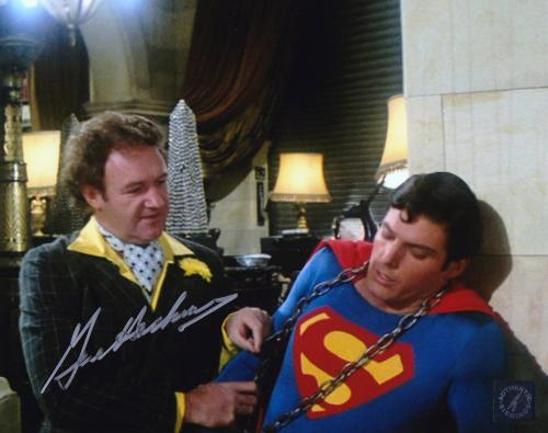 "Gene Hackman ""Lex Luthor"" Autographed Superman 8x10 Photo w/ Christopher Reeve"