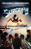 "Gene Hackman ""Lex Luthor"" Autographed Superman II 11x17 Movie Poster w/ Twin Towers & Statue of Liberty"