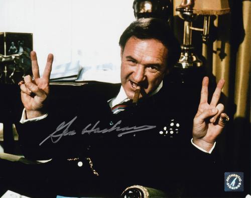 """Gene Hackman """"Lex Luthor"""" Autographed Superman Peace Signs 8x10 Photo"""