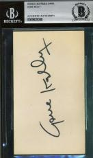 Gene Kelly Bas Beckett Authentication Signed 3x5 Index Card Autograph