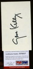 Gene Kelly Hand Signed Psa/dna 3x5 Index Card Authenticated Autograph