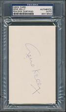 Gene Kelly Index Card PSA/DNA Certified Authentic Auto Autograph Signed *8940
