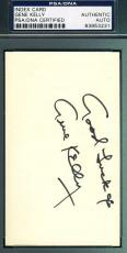 Gene Kelly Psa/dna Hand Signed 3x5 Index Card Authenticated Autograph