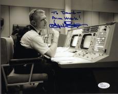 GENE KRANZ HAND SIGNED 8x10 PHOTO     APOLLO MISSION CONTROL     TO DAVID    JSA