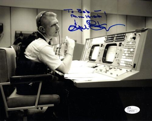 GENE KRANZ HAND SIGNED 8x10 PHOTO       NASA MISSION CONTROL     TO BOB      JSA