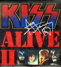Gene Simmons Ace Frehley Autographed Kiss Live2 Album Lp