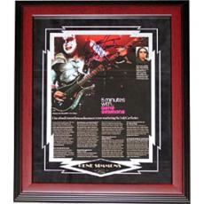 Gene Simmons Autographed 8x10 Framed Photo