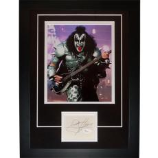 "Gene Simmons Autographed Kiss Band ""Signature Series"" Frame – JSA"
