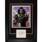 "Gene Simmons Autographed Kiss Band ""Signature Series"" Frame – JSA"