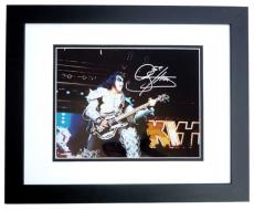 Gene Simmons Autographed KISS Concert 11x14 Photo BLACK CUSTOM FRAME
