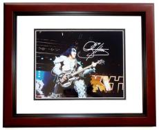 Gene Simmons Autographed KISS Concert 11x14 Photo MAHOGANY CUSTOM FRAME