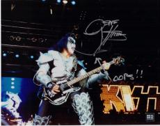 Gene Simmons Signed - Autographed KISS Concert 11x14 Photo with Rare OOPS inscription