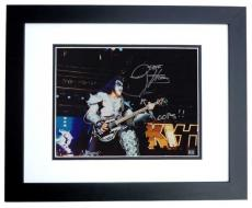Gene Simmons Signed - Autographed KISS Concert 11x14 Photo  with Rare OOPS inscription - BLACK CUSTOM FRAME