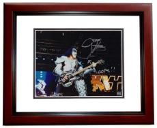 Gene Simmons Signed - Autographed KISS Concert 11x14 Photo with Rare OOPS inscription - MAHOGANY CUSTOM FRAME