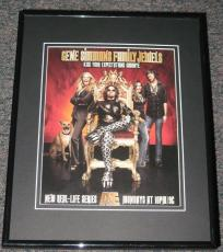 Gene Simmons Family Jewels Framed Advertisement Promotional Photo 11x14 Kiss