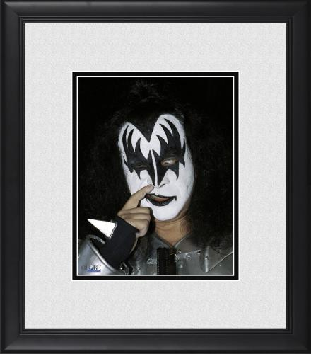 "Gene Simmons Kiss Framed 8"" x 10"" Picking His Nose Photograph"