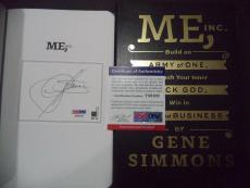 Gene Simmons Kiss Music Legend Signed Auto Me Inc. Soft Cover Book Psa/dna Coa