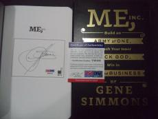Gene Simmons Kiss Music Legend Signed Auto Me Inc. Soft Cover Book Psa/dna Coa