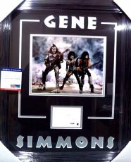 Gene Simmons Kiss Rock Music Legend Psa/dna Coa Signed Photo Matted & Framed A