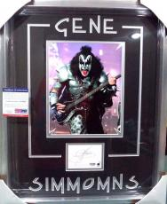 Gene Simmons Kiss Rock Music Legend Psa/dna Coa Signed Photo Matted & Framed C