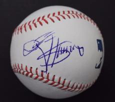Gene Simmons KISS Rockstar Musician Autographed MLB Signed Baseball JSA B