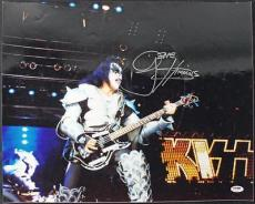 Gene Simmons Kiss Signed 16X20 Photo Autographed PSA/DNA #T50462