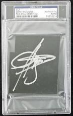 Gene Simmons Kiss Signed 3x3.75 Cut Autographed Psa/dna Slabbed