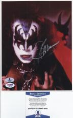 Gene Simmons KISS Signed 8X10 Photo - Beckett BAS