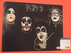 Gene Simmons Kiss Signed Autographed 11x14 Photo PSA/DNA COA