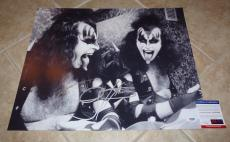 Gene Simmons KISS Signed Autographed 16x20 Photo PSA Certified #3