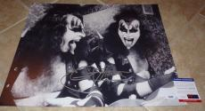Gene Simmons KISS Signed Autographed 16x20 Photo PSA Certified #4