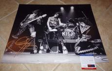 Gene Simmons KISS Signed Autographed 16x20 Photo PSA Certified #6