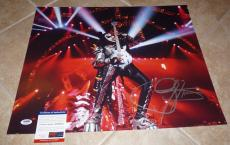 Gene Simmons KISS Signed Autographed 16x20 Photo PSA Certified #7