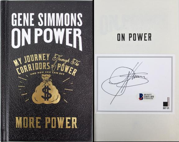 Gene Simmons KISS Signed On Power Hard Cover Book Autographed BAS