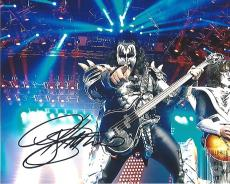 GENE SIMMONS - Known as 'THE DEMON' is BASS GUITARIST and CO-LEAD VOCALIST for KISS - Signed 10x8 Color Photo