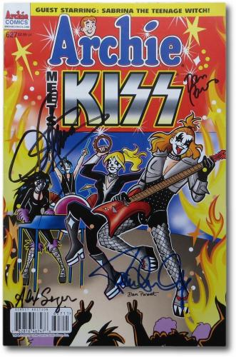 Gene Simmons Paul Stanley Multi Signed Archie Meets KISS Comic Book  JSA U90361