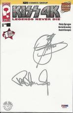 Gene Simmons & Paul Stanley Signed 6 1/2x10 1/2 Magazine PSA/DNA # V25646